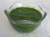 Green chutney for chaat (Mint Corienader Chutney)