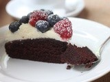 Mother's Day Dessert 2 - Chocolate Torte with Raspberry and Blueberry
