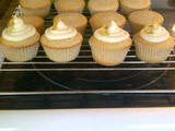 Earl Grey Cupcakes with Honey Buttercream and Candied Lemon Peel