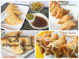 5 Vegetarian Indian Samosa with Different Fillings