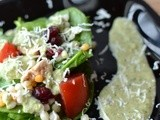 Grilled Chicken Salad with Basil Dressing