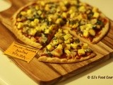 Spinach-Paneer Pizza