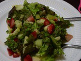 Apple Strawberry salad