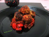 Deep fried vegetarian balls in Tangy Sauce