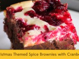 Christmas Themed Spice Brownies with Cranberry