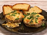 Bacon and Egg Cheesy Portobellos