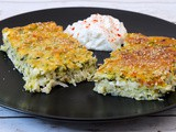 Baked Zucchini with Goat Cheese, Feta and Yoghurt