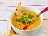 Spicy Moroccan Soup with Red Lentils and Vegetables