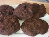 Double Chocolate and Sour Cherry Biscuits