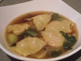 Miso Soup With Prawn Wontons