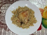 Chicken kabsa rice with eggplant
