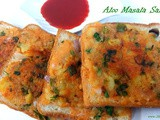 Aloo masala sandwich, how to make aloo sandwich - mashed potato sandwich recipe