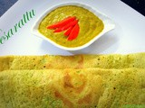Andhra pesarattu recipe, how to prepare pesarattu (green gram dosa)