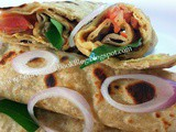Egg Frankie Recipe-Chapati Egg Roll Recipe Indian Style-Egg Wrap