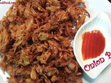 Onion pakoda recipe - kanda bhaji recipe - south indian onion pakoda