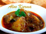 Potato Kurma for Poori and Chapathi - Aloo Curry Andhra style