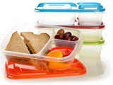 3 Compartment Bento Lunchbox (Set of 4) $13.95