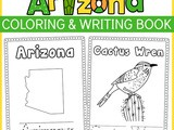 Arizona Coloring and Writing Book full of fun state facts