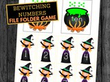 Bewitching Numbers File Folder Game for Halloween Fun