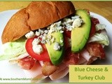 Blue Cheese and Turkey Club Sandwich