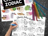 Chinese Zodiac Placemat Printable Coloring Page