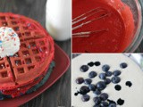 Colorful and Delicious Strawberry and Blueberry Waffles