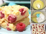 Decadent Raspberry White Chocolate Blondies