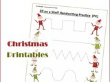 Elf on the Shelf Christmas Handwriting Worksheets for Kids