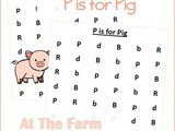Farm Animals Find the Letter p is for Pig