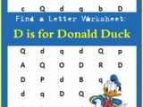 Find the Letter: d is for Donald Duck