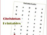 Find the Letter e is for Elf (Christmas Printable Worksheets)