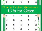 Find the Letter: g is for Green