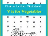 Find the Letter: v is for Vegetables