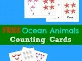 Free Printable Flashcards: Counting 1-10 {Ocean Animals Unit Study}