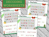 Fun Christmas Decoding Worksheets
