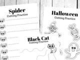 Halloween Cutting Practice Worksheets