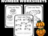 Halloween Number Worksheets for Preschoolers
