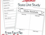 Idaho State Fact File Worksheets