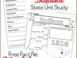 Indiana State Fact File Worksheets