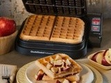Maple Glazed Apple Fritter Waffles