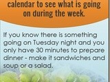 Meal Planning Tip 6:  Schedule It