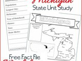 Michigan State Fact File Worksheets