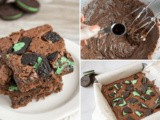 Mint oreo Brownies Recipe from Scratch