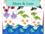 More or Less Worksheets  {Ocean Animals Unit Study}