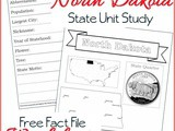 North Dakota State Fact File Worksheets