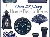 Over 27 Navy Home Decor Pieces