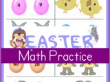 Printable Easter Worksheets: Greater Than and Less Than (2nd grade)