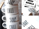 Rae Dunn Inspired Soup Bowls