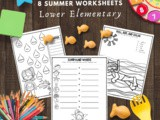 Summer Math and Grammar Practice for Lower Elementary