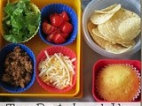 Taco bento lunch idea